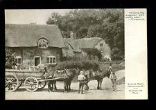 Warwicks Warwickshire NEWTON REGIS Horse Cart  PPC c1900s?