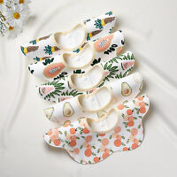 5Pcs Baby Bibs Cotton Soft Saliva Towels Adorable Water Absorption for Toddlers