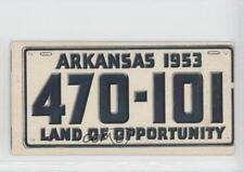 1953 Topps License Plates #4 Arkansas Non-Sports Card 0s4
