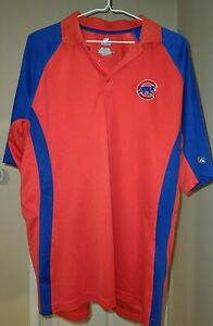 Majestic Chicago Cubs Polo Shirt Adult XL