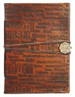 RUSTIC TOWN Handmade Vintage Antique Looking Genuine Leather Journal Diary No...