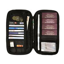 Portafoglio da Viaggio Custodia per passaporto FAMIGLIA DOCUMENTO Card Organizer RFID garantito holida