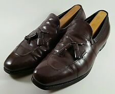 Johnston & Murphy Mens Aristocrat Tassel Loafer Brown Leather 10.5C Made in USA