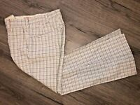 RARE Vtg 1970s Levis Panatela Plaid Bell Bottom Pants Flare Disco Men's 30 x 30