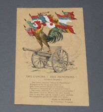 CPA CARTE POSTALE GUERRE 14-18 DES CANONS ! DES MUNITIONS ! CHARLES HUMBERT