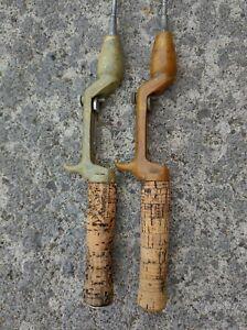 Vintage/Antique True Temper Steel Shaft Casting Fishing Rods lot of 2 USA