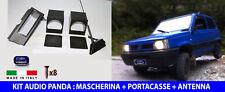 Kit Fiat Panda antenna stereo auto mascherina e portacasse audio per autoradio