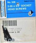 Carl Goldberg 536 2-56 x 3/4 Socket Head Screws GBG536