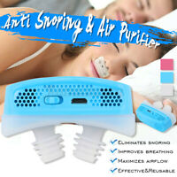 Electric Mini Anti Snoring Device CPAP for Sleep Apnea Stop Snore Aid Stop