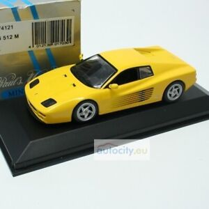 MINICHAMPS FERRARI 512 M (MIN074121) YELLOW 430074121