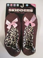 BRAND NEW SKIDDERS Brown Animal Print Ballet Slippers~Small 5-6~$18.00 Tag!