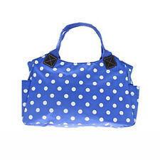 Blue & White Polka Dot Dotty Oilcloth Tote Bag Handbag Fashion