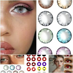 1Pair Eye Color Contact Makeup Cosplay Party Set