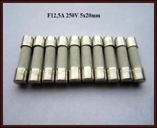 SP Sicherung Ceramic F 12,5A 250V Flink 5x20mm Feinsicherung Fuse    10 Stück