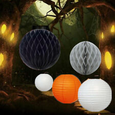 5 PCs HALLOWEEN Party  Honeycomb Ball Round Paper Lanterns Decoration (No.5)