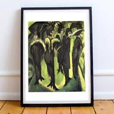 ERNST KIRCHNER WOMEN STREET FIVE AT EXPRESSIONISM 55 24X36 INCHES