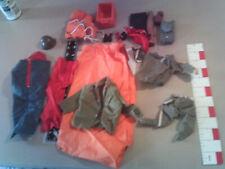 GI Joe clothes tool tent sleeping bag & parts & accessories