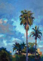 "Carl Dalio ORIGINAL Fine Art Oil Painting - 5""x7"" Landscape in California"