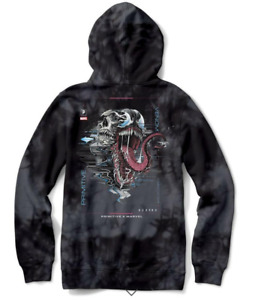 Venom Washed Hood (Black) by Primitive x Marvel x Paul Jackson Small NEW