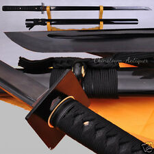 Ninja Chokutō Straight Sword Samurai Sword High Carbon Steel Black Blade #2387