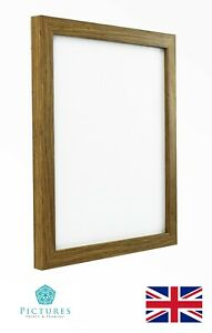 "Oak Photo Picture 19mm Frame 10x10"" 10x11"" 10x12"" 10x13 10x14""-20"" Mount Glass"