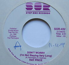 """RAY PRICE - Don't Worry - Excellent Condition 7"""" Single Step One SOR-432"""