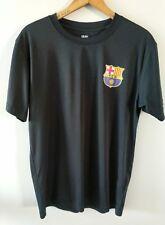 FCB Soccer Lionel Messi Barcelona Black Polyester T-Shirt Men's Size Small S