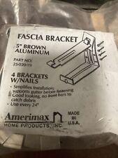 "Amerimax Gutter Fascia Bracket 5"" Brown Aluminum, 4 Brackets W/Nails"