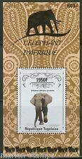 TOGO 2014  AFRICAN    ELEPHANTS   SOUVENIR SHEET MINT  NH