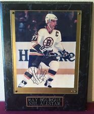 Ray Bourque NHL Allstar Signed Photograph W/ Plaque