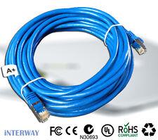 2x 30M A+ Triple Shielded RJ45 CAT6E Computer LAN Ethernet Network Cable 1000Mb