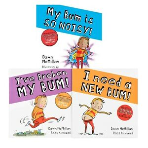 The New Bum Series 3 Book Collection Set by Dawn McMillan & Ross Kinnaird