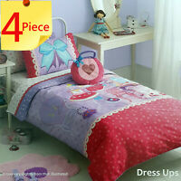 Dress Ups Kids Doona Quilt Cover Set + Love Heart Cushion by Freckles | Double