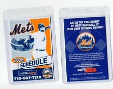 POCKET SCHEDULE - New York Mets 2008 Season Major League Season NL MLB