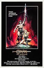 CONAN THE BARBARIAN (1982) ORIGINAL MOVIE POSTER  -  ROLLED  -  CASARO ARTWORK