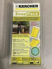 Karcher Concentrated Deck & Patio Cleaner Soap Pacs for Pressure Washers 12pk