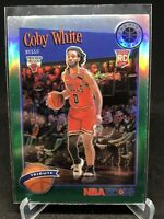 2019-20 NBA HOOPS Premium Stock Coby White Tribute Green Prizm Bulls #295
