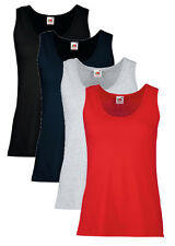 Ladies Womens Plain Fitted Vest T Shirt Tank Top Sizes 8-18