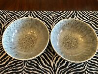 Lot 3: Denby Pottery England HALO SPECKLE coupe Cereal Rice Bowls Gray Denby NWT