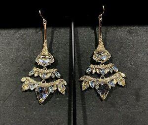 Ross-Simons Opal - Quartz Chandelier Drop Earrings 18kt Gold Over Sterling