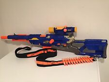 Nerf N-Strike Long Strike CS-6 Sniper Rifle Gun Scope Clip Bandolier Darts Nice!