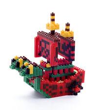 Cartoon ONEPIECE Pirate Boat Queen Minifigure Mini DIY Building Nano Blocks Toy