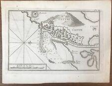 GRAVURE ROUX PLAN DU  PORT DE SETE 1764