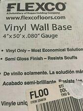 "flexco vinyl wall base 4"" x 50' x.080"" Gauge- black Dhalia"