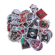 50Pcs/bag skeleton skull punk rock stickers DIY suitcase laptop car stick SL
