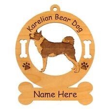 Karelian Bear Dog Standing Dog Ornament Personalized With Your Dogs Name 3430