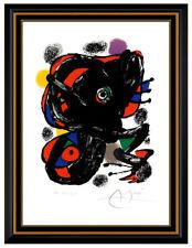 Joan Miro Main Signée Xxe Siècle Couleur Lithographie Original Abstrait Art
