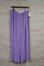 Alex Evenings Women's Plus Size 1X Wide Leg Chiffon Pants Mystic Lilac Purple