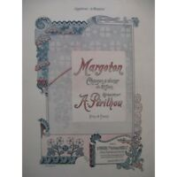 PÉRILHOU Albert Margoton Chant Piano 1900 partition sheet music score