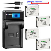 Kastar Battery LCD Charger for Toshiba PX1740E PX1752E-1C4G PX1762E-1C4G Camera